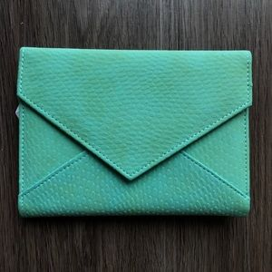 NWOT Francesca's Collections Teal Trifold Wallet